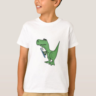 AD- T-Rex Dinosaur with a Toothbrush T-shirt