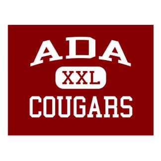 Ada - Cougars - Junior High School - Ada Oklahoma Postcard