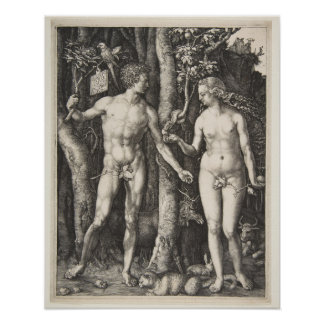 Adam and Eve, 1504 Poster