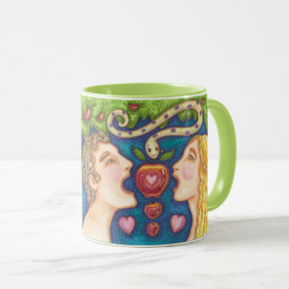 Adam And Eve APPLE SEDUCTION MUG Green