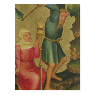 Adam and Eve at Work Postcard