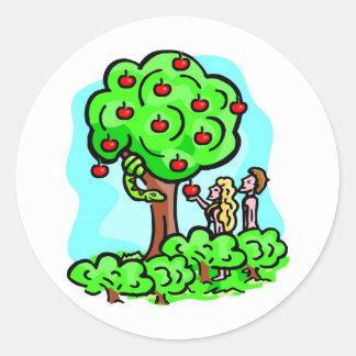 Adam and Eve Christian artwork Round Sticker