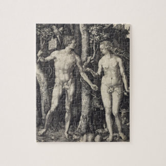 Adam and Eve Engraving by Albrecht Durer Jigsaw Puzzle