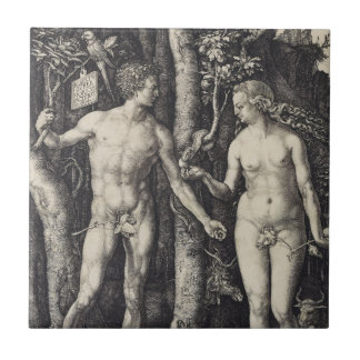 Adam and Eve Engraving by Albrecht Durer Tile