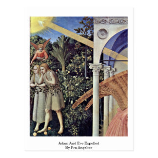 Adam And Eve Expelled By Fra Angelico Postcard