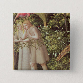 Adam and Eve Expelled from Paradise 2 Inch Square Button
