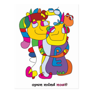 adam and eve funny illustration couple noa postcard