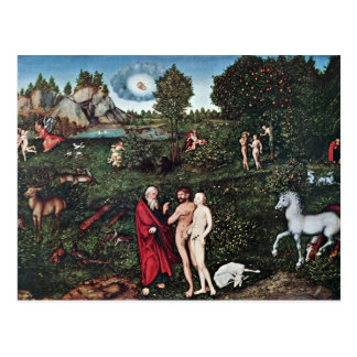 Adam And Eve In The Garden Of Eden, Adam And Eve I Postcard