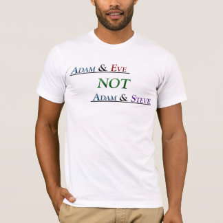 Adam and Eve not Adam and Steve T-Shirt
