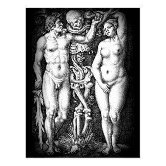 Adam and Eve original sin postcard
