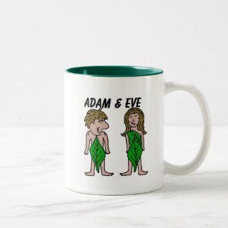 Adam and Eve Two-Tone Coffee Mug