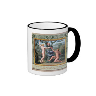 Adam and Eve with the Serpent, illustration from t Mug