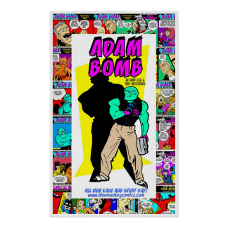 Adam Bomb Daily Adventures One Year Anniversary! Poster