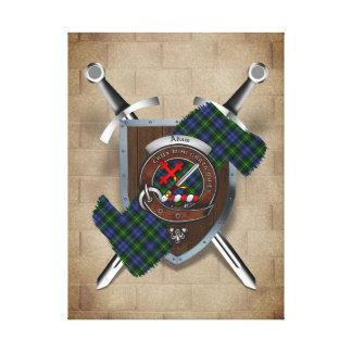 Adam Clan Badge Crossed Swords Canvas Print