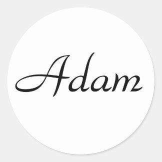 Adam Classic Round Sticker