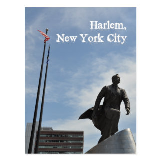 Adam Clayton Powell jr. monument in Harlem Postcard