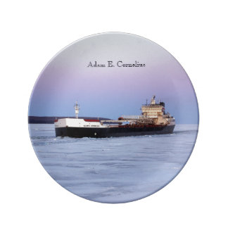Adam E. Cornelius decorative plate