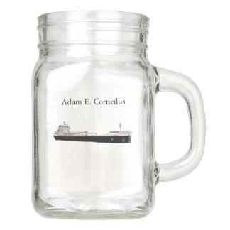Adam E. Cornelius mason jar
