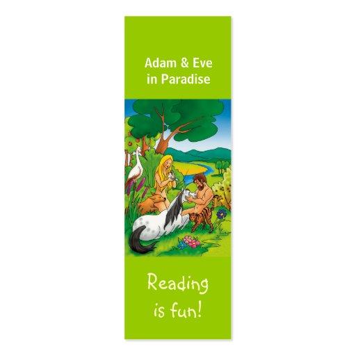 Adam & Eve in Paradise bookmark Business Cards
