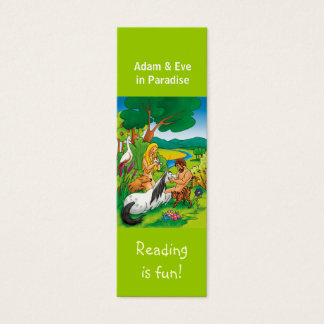 Adam & Eve in Paradise bookmark Mini Business Card