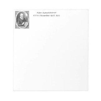 Adam Gumpelzhaimer Notepad