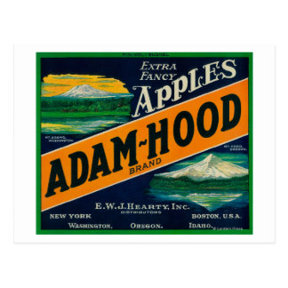 Adam-Hood Apple Crate LabelHood River, OR Postcard