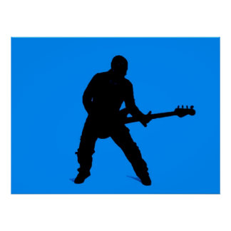 Adam on bass guitar print