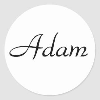 Adam Round Sticker