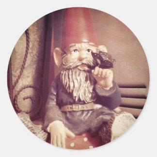 Adam the Gnome Round Sticker