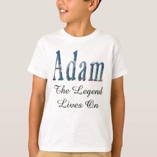 Adam, The Legend Lives On, Boys White T-shirt. T-Shirt