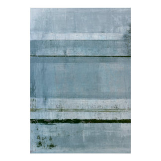 'Adamant' Blue Abstract Art Poster