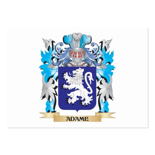 Adame Coat Of Arms Business Card