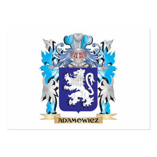 Adamowicz Coat Of Arms Business Card Template