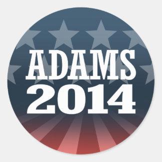 ADAMS 2014 ROUND STICKER