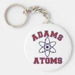 Adams Atoms Basic Round Button Keychain
