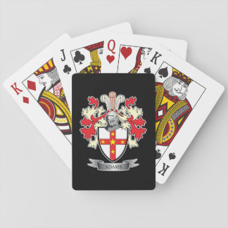 Adams Coat of Arms Family Crest Playing Cards