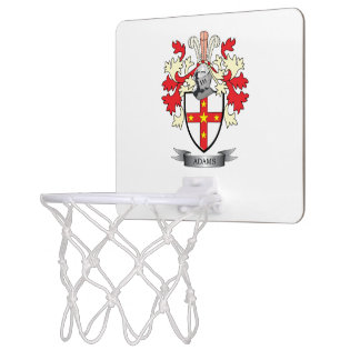 Adams Coat of Arms Mini Basketball Hoop