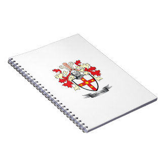Adams Coat of Arms Spiral Notebook
