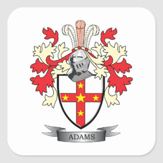 Adams Coat of Arms Square Sticker