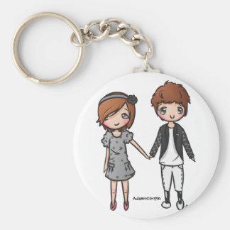 Adams Couple Keychain