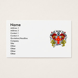 Family crest business cards and business card templates for Family business cards
