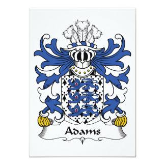 Adams Family Crest Card