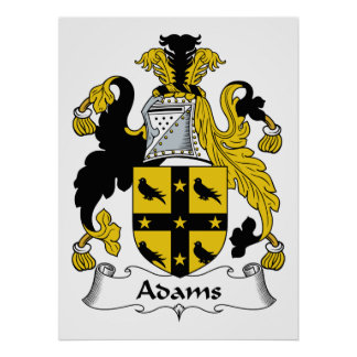 Adams Family Crest Poster