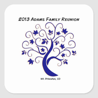 Adams Family reunion sticker