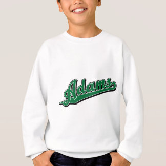 Adams in Green Sweatshirt