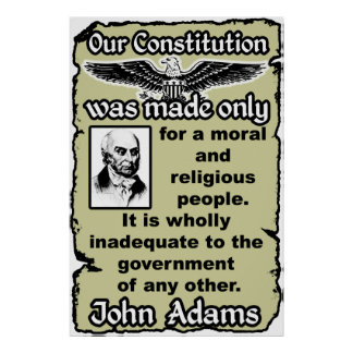 Adams: Our Constitution Poster