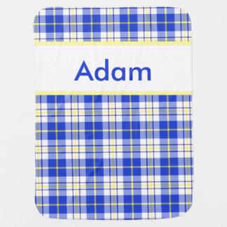 Adam's Personalized Blanket Receiving Blankets