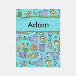 Adam's Personalized Jungle Blanket
