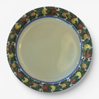 Adams TitianWare Della Robbia c1900 hand painted 9 Inch Paper Plate