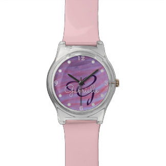Adaptable Bling | Custom Girly Pink Purple Zebra | Watch